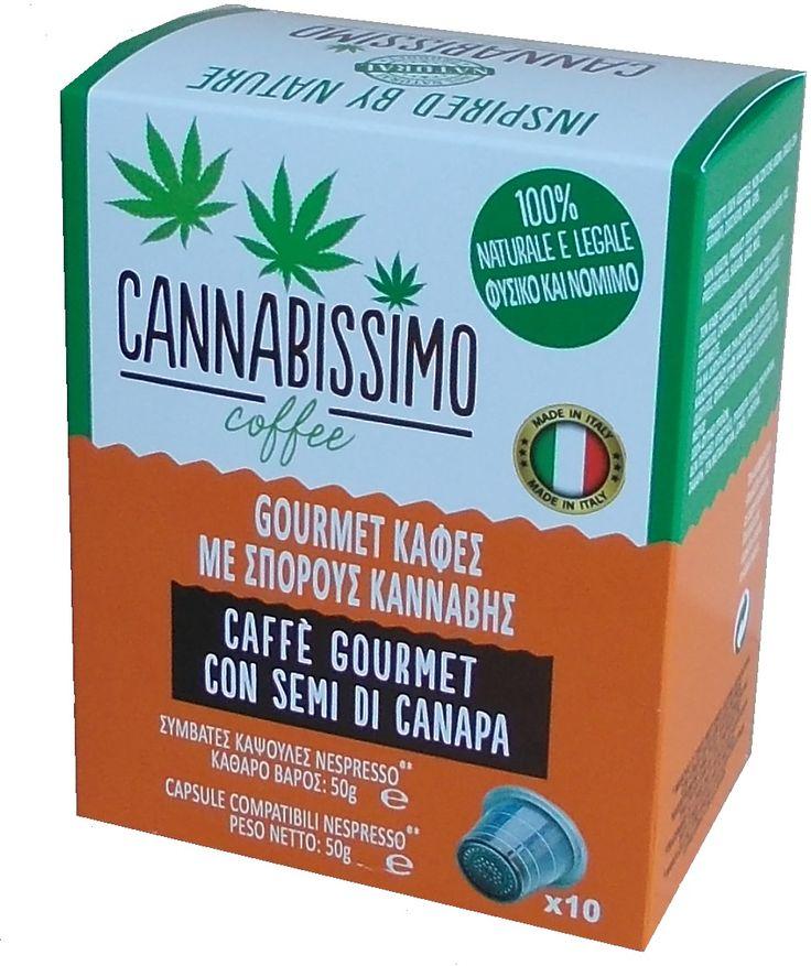 Cannabissimo coffee Nespresso compatibles capsules in box of 10