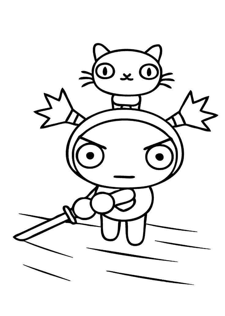 coloring pages of pucca - photo#29