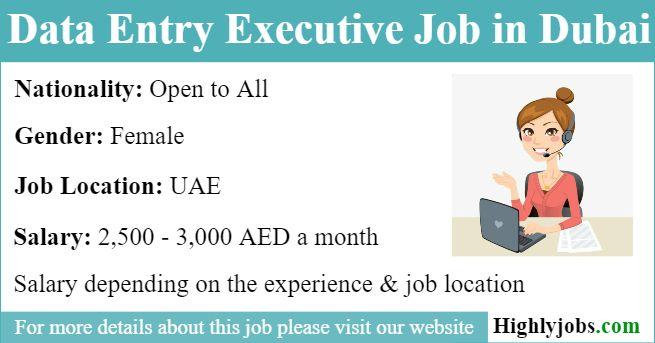 Data Entry Executive Job In Dubai Executive Jobs Dubai Data Entry