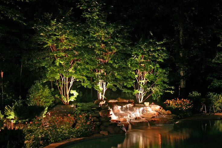 Marvelous Pathway Lights, Spotlights, U0026 Water Feature Lighting The Illumination Of  Your Landscape Will Improve The Safety And Security Of Your Home And Propeu2026