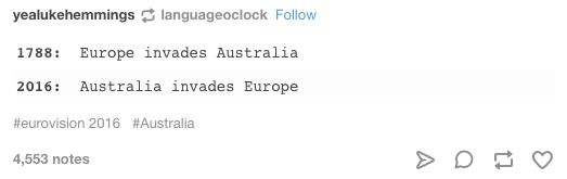 On Eurovision: | 47 Times Australians Were The Funniest People On Tumblr In 2016