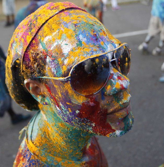 18 best nightlifelightscolours images on pinterest colours a reveller poses for a photo during jouvert celebrations or daybreak celebrations in malvernweather Choice Image