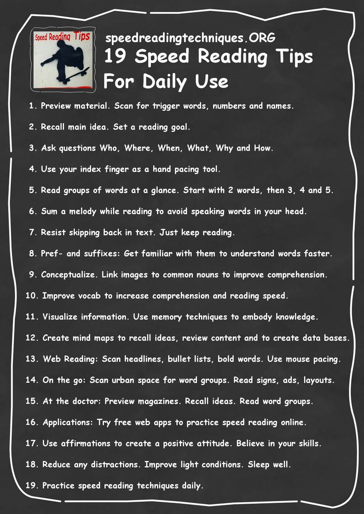 Speed Reading Tips