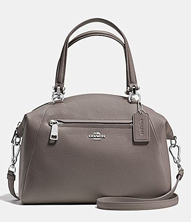 COACH PRAIRIE SATCHEL IN PEBBLE LEATHER #Dillards
