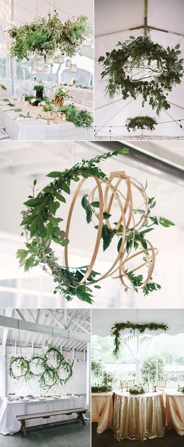 hanging greenery wedding decoration ideas