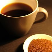 "Ground coffee into ""instant coffee""  I need to try this!  I hate making coffee at home..."