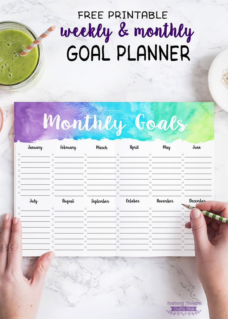 5 Tips for Staying Motivated to Reach Your Goals (+ free printable weekly/monthly goal planner)
