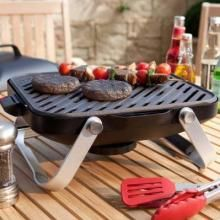 This portable gas grill by Fuego features ultra lightweight design, making it the ideal solution to quick, outdoor grilling.