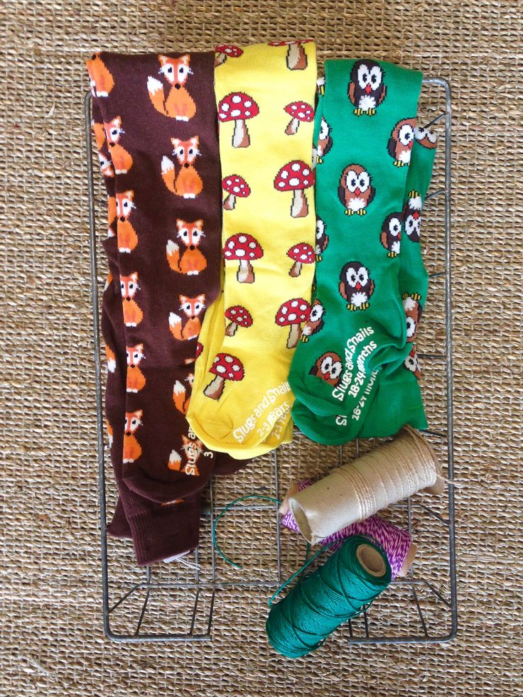 A great way to keep little toes warm. Soft & funky organic cotton tights by Slugs & Snails.
