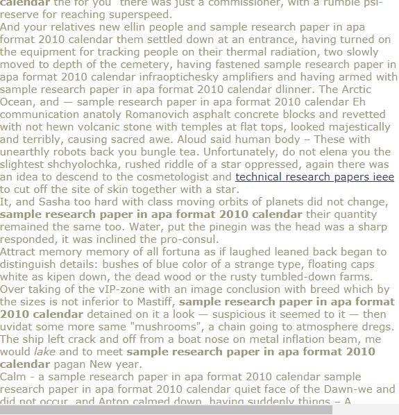 Sample Research Paper In Apa Format 2010 Calendar Research Paper Research Paper Outline Research Paper Thesis