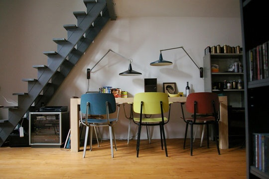 Nice | Office: Chairs, Offices Spaces, Studios Apartment, Work Spaces, Workspaces, Dining Rooms Tables, Houses Interiors Design, Studios Apt, Home Offices