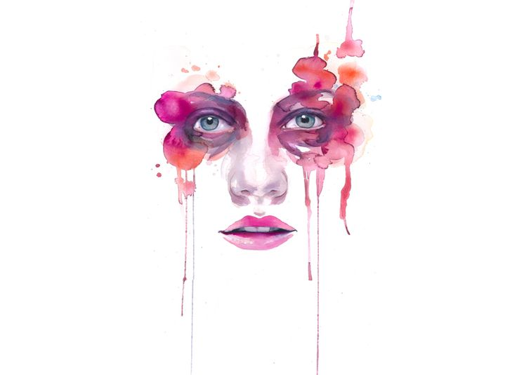 watercolor, portrait, faces, symmetry, art, artwork, artist, facial, eyes, nose, mouth, color, colorful, painting, paint, paper,
