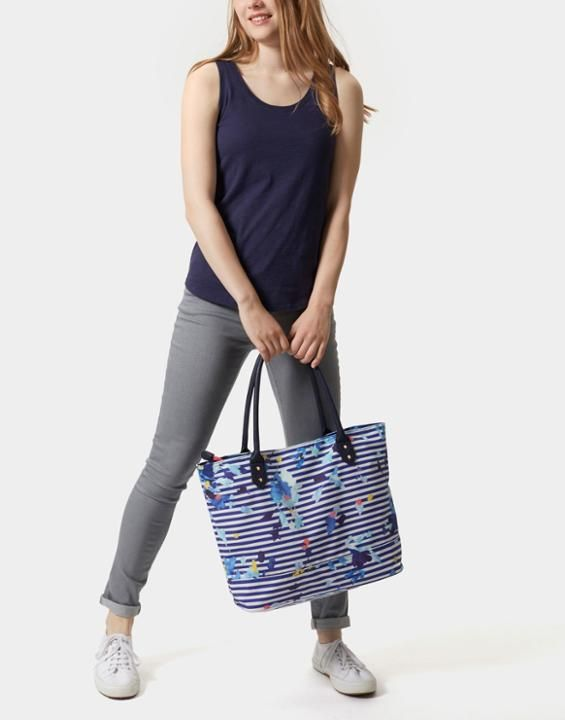 Joules Cariwell Womens Printed Canvas Shopper Bag