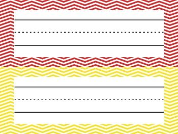 Chevron Name Plates- free printable