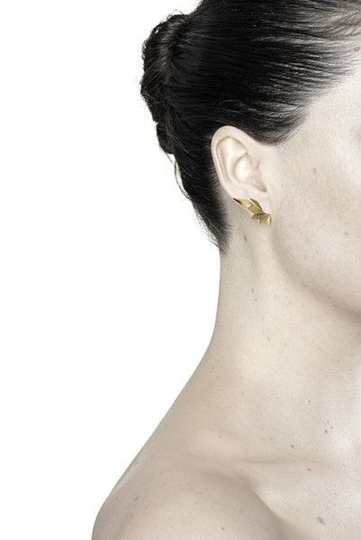 WING EARRING - GOLD - Maria Black
