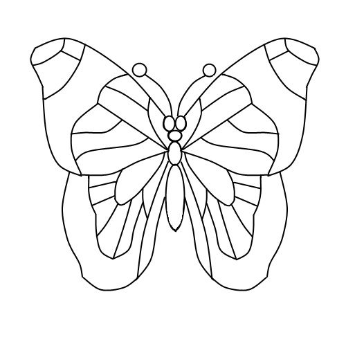 Butterfly designs for glass painting - photo#41