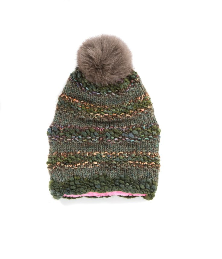 KNIT BEANIE CAP FOR WOMEN in Hunter Green - The GŌBLE Women Knit Beanie Cap is a luxurious soft blend of merino wool, alpaca, silk and mohair HAND KNIT IN CANADA GOBLE.CA