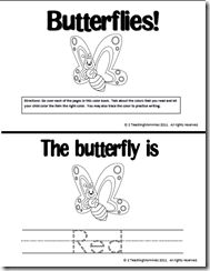 Butterfly coloring book and counting 1-10 book from 2 Teaching Mommies