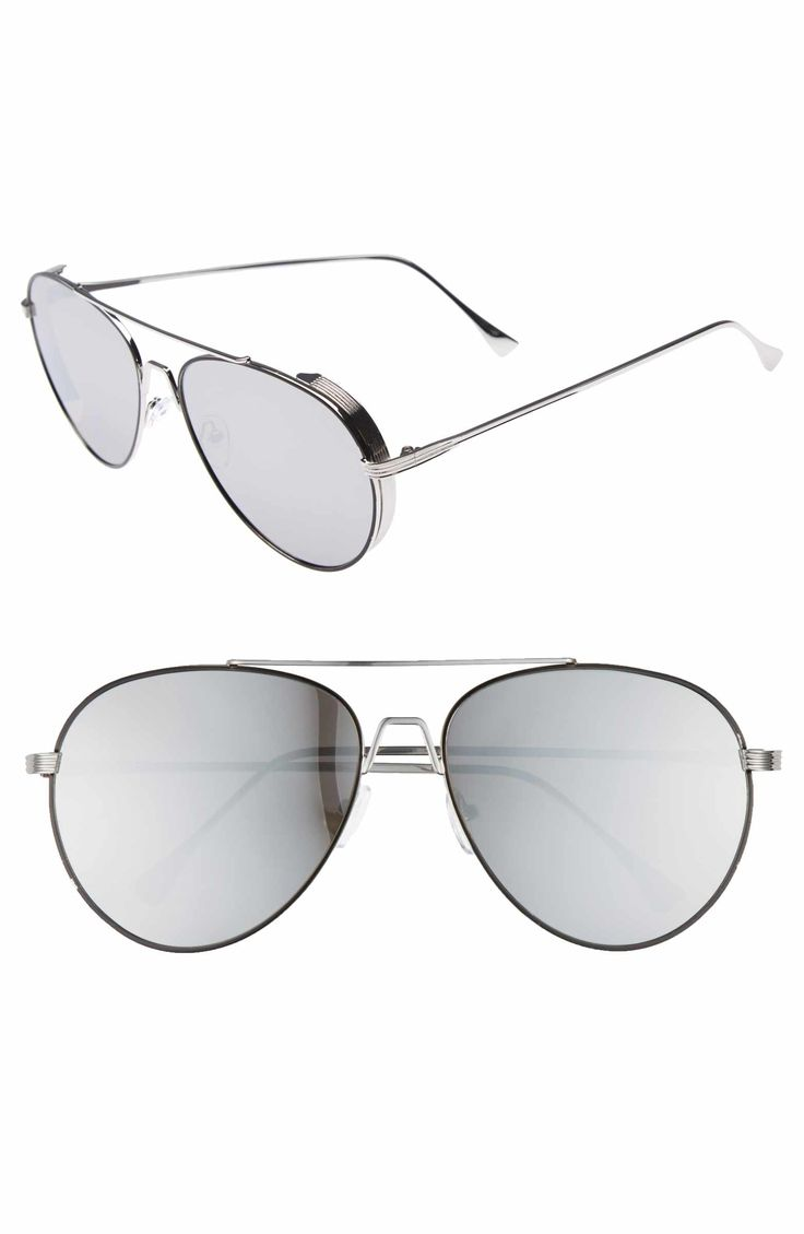 Main Image - BP. 62mm Oversize Aviator Sunglasses
