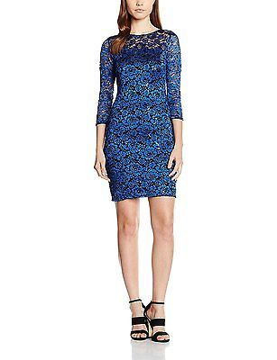 22, Blue (Cobalt), Dorothy Perkins Women's Billie and Blossom Lace Regular Dress