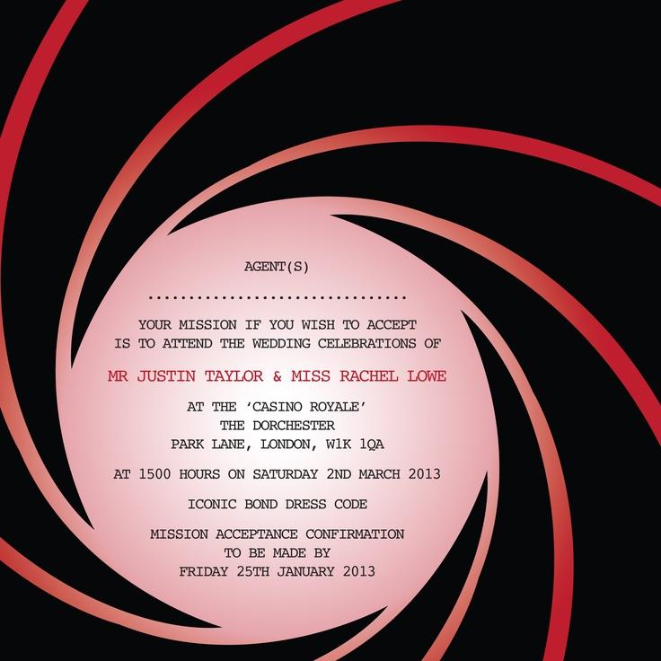 21 best james bond wedding invitations images on pinterest wedding invitation by ananya cards corporate invitationinvitation ideasjames bond stopboris Choice Image