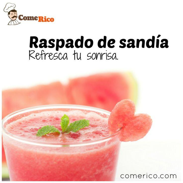 Refréscate con este delicioso raspado de #sandía
