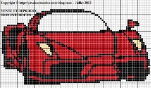 Grille gratuite point de croix : Voiture Ferrari Enzo