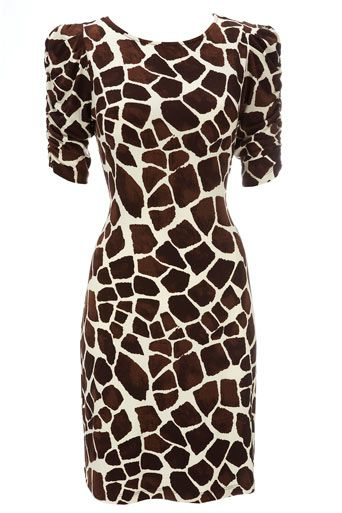 giraffe print dress, this is cute!