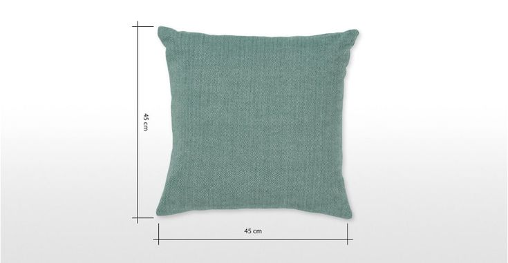 Teal Cushion in Wool 45x45cm, Porter | MADE.com