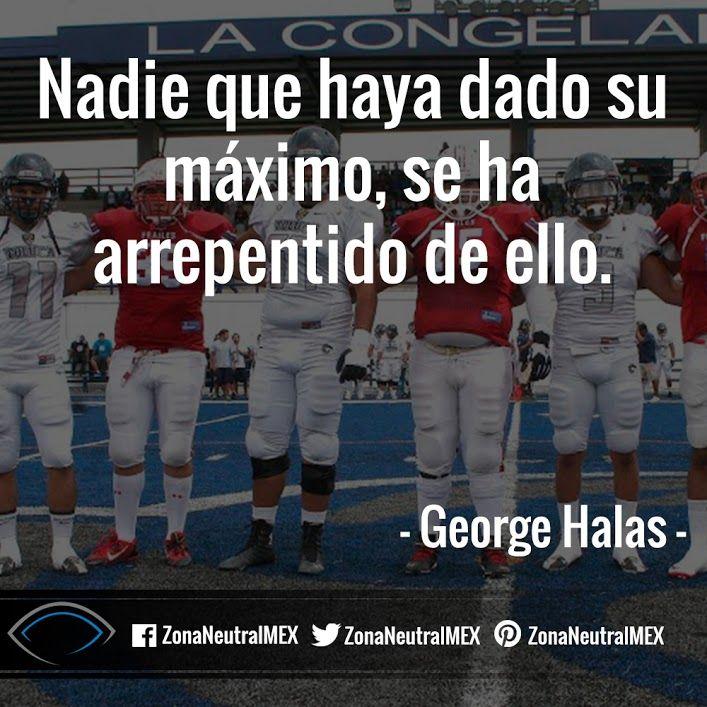 #FutbolAmericano #Futbol #Americano  #Halas #Ganar #Cita #Frase #GeogeHalas