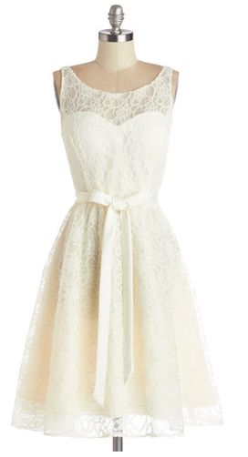 Simply divine dress in ivory from Modcloth – $150