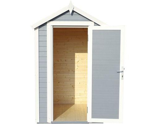 Gerätehaus Mini premio, 120 x 126 cm, silbergrau