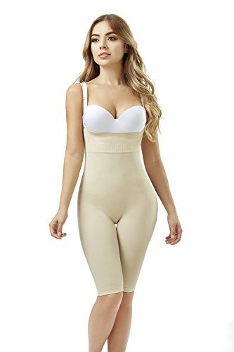 ec9fdcd285 ShapEager Fajas Seamless Body Shaper Bio-Crystals Long Short Faja Colombiana