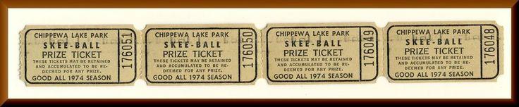 Chippewa Lake Park Skee Ball Tickets - Chippewa Lake, OH