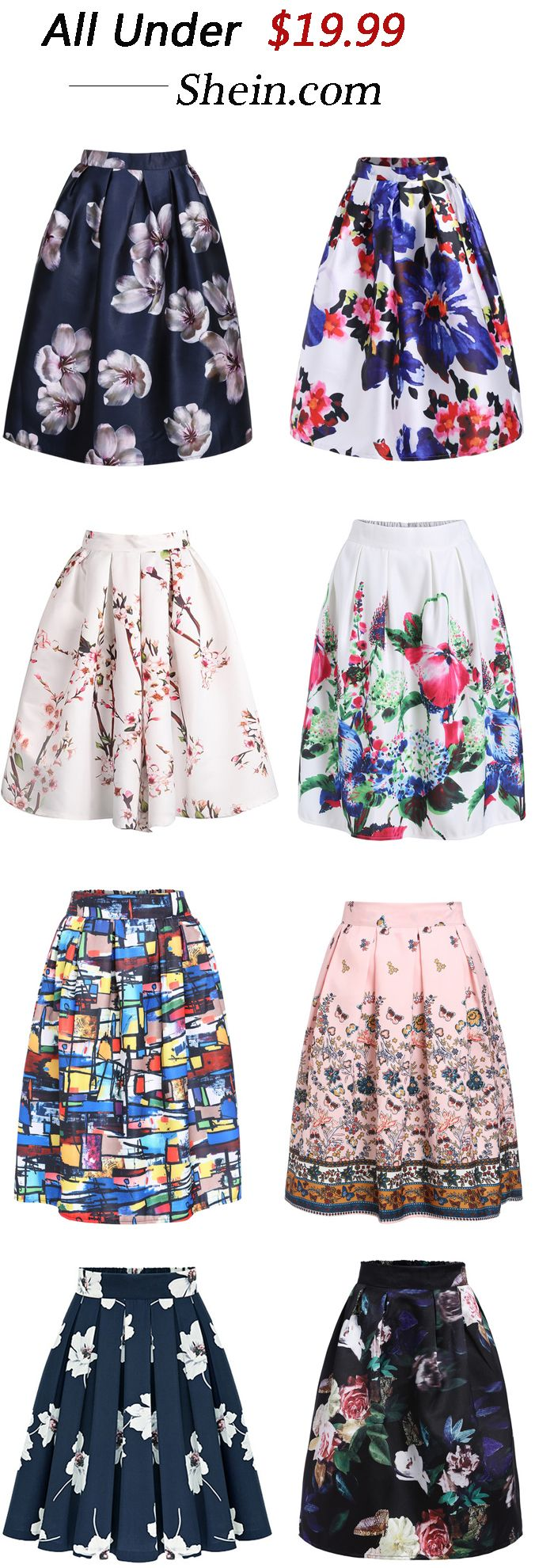How to Wear with Full Skirts this Summer, Various kinds of Skirts from Romwe.com Check more details :)