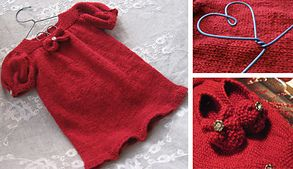 Ravelry: Finkjole med puffermer : Christmas dress pattern by Marte Helgetun