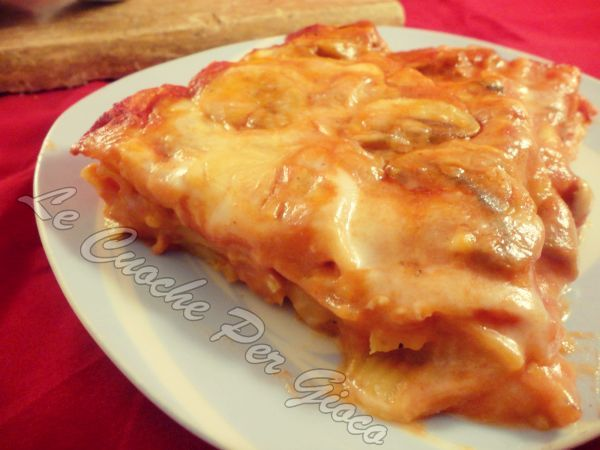 Lasagne al sugo di funghi, lasagne con gusto!