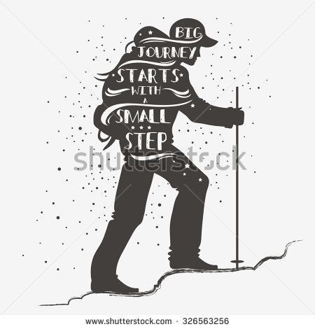 Big journey starts with a small step. Motivational and inspirational typography. Quote. Tourist with a backpack. Lettering. Print for T-shirts and bags, poster, greeting and postal cards. - green button down shirt, gents shirts with price, light blue shirt mens *sponsored https://www.pinterest.com/shirts_shirt/ https://www.pinterest.com/explore/shirts/ https://www.pinterest.com/shirts_shirt/printed-shirts/ http://www.theory.com/mens-shirts/