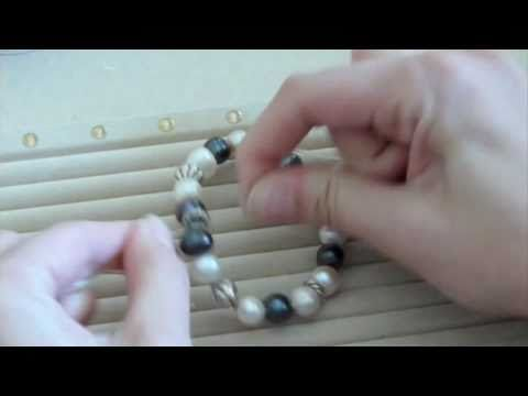 How to Make a Stretch Bracelet - YouTube
