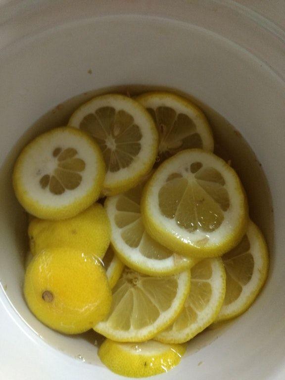 Sick Day Lemon/Ginger/Honey tea! : slowcooking