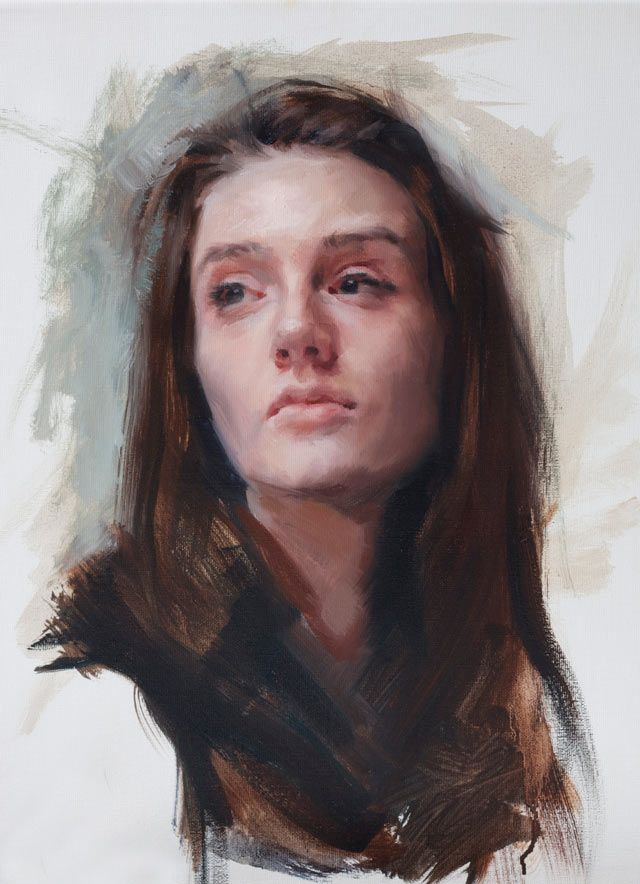 Wet on wet painting, portraits by Louis Smith