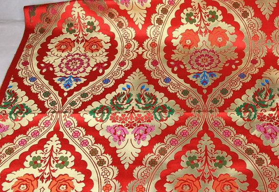 17 Best Images About Woven Fabric Red Floral On Pinterest Traditional Shops And Fabric Online