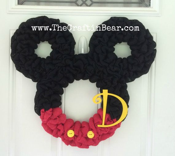 Affordable Mickey And Minnie Mouse Wreaths For Your Front Door