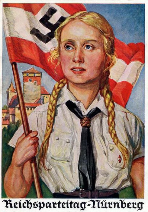 German poster for the Bund Deutscher Mädel. (The League of German Girls or League of German Maidens).