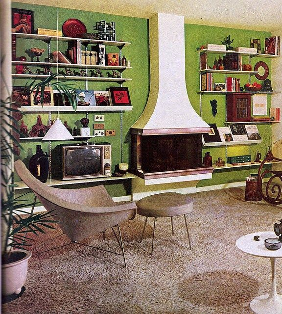 70s Home Design sadly there are no lava lamps here 70s Atompunk Home Design