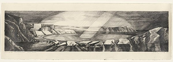 Mandy MARTIN, Drawing for the painting 'Red Ochre Cove', first version