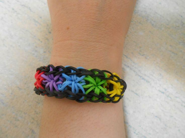 pulseras con gomitas de colores http://guecica.blogspot.com.es/2014/02/pulseras-con-gomas-de-colores.html