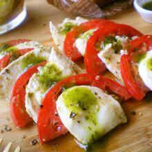 トマト×チーズのバジル風チキンマリネ*