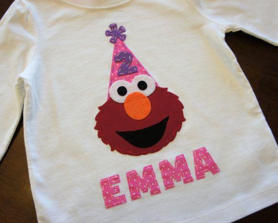 Elmo Birthday Party Shirt for Boys or Girls by AStitchUponAStar