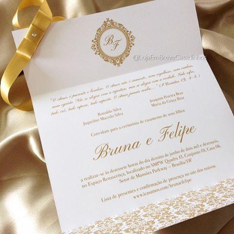 O convite da promoção também em dourado! Um luxo ✨❤️ - Apenas R$5,49 cada ( válido para compras acima de 80 unidades ) - - #casamentoclássico #casamento2016 #casamento #casamentos #wedding#weddingsinvitation #noivassp #noivacarioca #invitation #casamentodourado #wedding#weddingsinvitation #weddings #casandoemsalvador#casandoemsp #instaweddings #instabrides #brides #bridesmaidinspiration #bridestory #vestidodenoiva #cerimonialista #noivadoano #noivasdobrasil